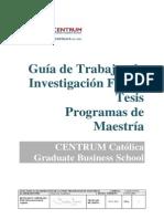 Guía de Tesis Programas de Maestrías Noviembre 2013