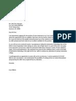 sample cover letter 1