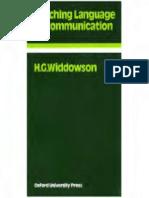 94105824 Teaching Language as Communication H G Widdowson
