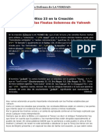 1. Levitico 23 El Shabbat en la Creación y Las Fiestas de IHVH