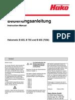 Hakomatic B 655 Bedienungsanleitung