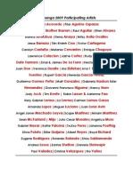 Pachanga 2009 Online Artist Catalogue