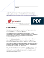 What is Falsifiability
