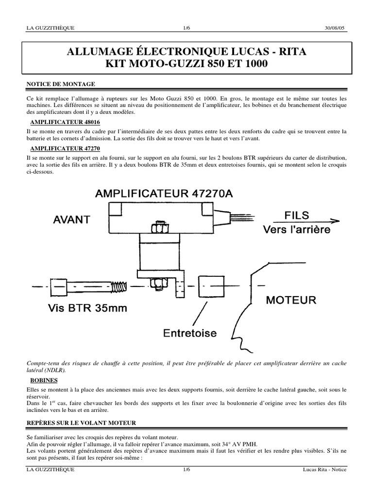 Moto Guzzi 850 Wiring Diagram Trusted Diagrams 1975 Mercury Lucas Rita Electronic Ignition Circuit Hensim
