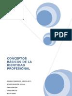 CONCEPTOS BÁSICOS DE LA IDENTIDAD PROFESIONAL