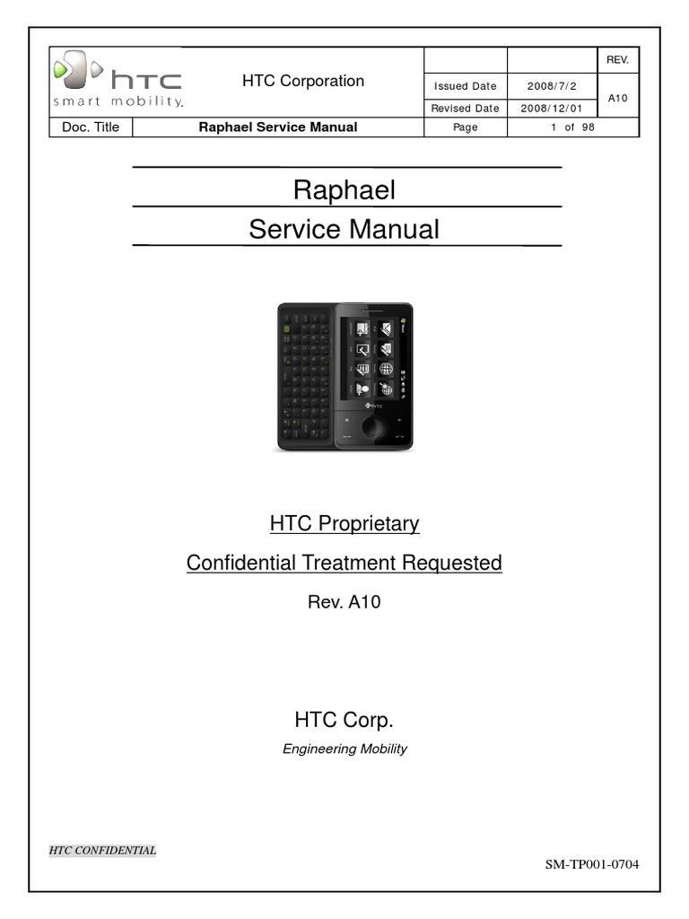 Raphael Service Manual: HTC Proprietary Confidential