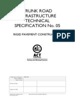 ACT TRITS 05 Rigid Pavement Construction