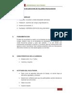 Informe de Ejecucion de Talleres Psicologicos Para Presentar