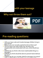 Problems With Your Teenage Children