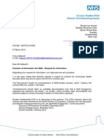 GHCCG Freedom of Information Response about renewal of Locala Contract 2014-15
