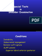Special Tests in Shoulder Examination