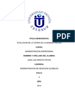 Monografia de La Evolución de La Administración