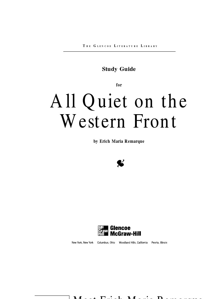 all quiet on the western front essay quiet on the western front  all quiet on the western front vertigo