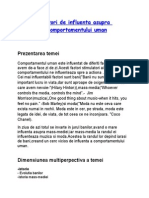 Comportamentul Uman Si Factori de Influenta (1)