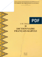 DALLET Dictionnaire Français-Kabyle