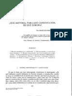 Clavero - Qué Historia, Para Qué Constitución, De Qué Europa