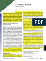 Danziger - Extraneous Factors in Judicial Decisions