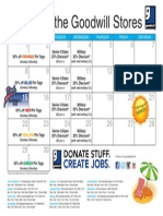 Goodwill's June Retail Calendar
