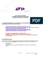 AVID HP XW8600 Configuration Guide Rev H
