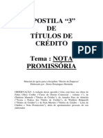 Titulos de Credito - Nota Promissoria
