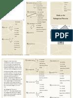 pythagoream theorem brochure