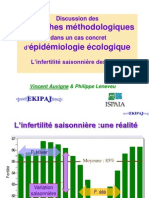Discussion des  approches méthodologiques  dans un cas concret d'épidémiologie écologique