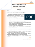 ATPS 2014 1 PED 5 Fundamentos e Metodologia Historia e Geografia