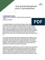 Apuntes Acerca de La Potestad Disciplinaria de La Administración y El Procedimiento Sumarial