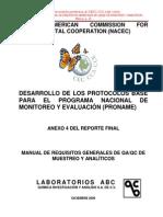 Manual de Requisitos de Qaqc Inecc 2013