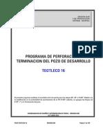Programa de Perforacion y Terminacion Teotleco 16 Finalx