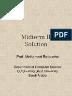 Midterm II Solution