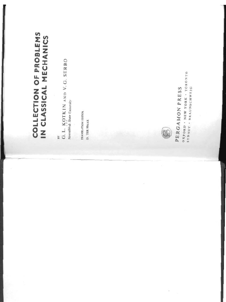 Kotkin & Serbo - Collection of Problems in Classical