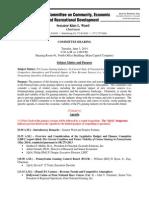 {Tentative}Agenda-CERD Hearing - PA Gaming (6!3!14)_5-30-14
