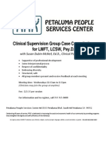 Clinical Supervision Group Case Consultation 05 2014