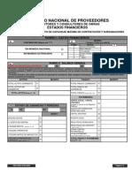 DSE SREG for 0020 Estados Financieros