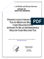Pennsylvania's Gross Receipts Tax on Medicaid Managed Care Organizations Appears To Be an Impermissible Health-Care-Related Tax (A-03-13-00201)
