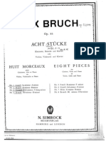 Bruch Eight Pieces Op 83