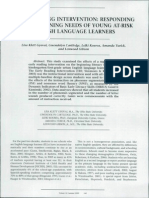 Gyov Early Reading Interventions for ELLs
