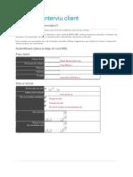 Formular Interviu Client Necompletat