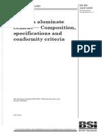 Calcium aluminate cement — Composition, specifications and conformity criteria