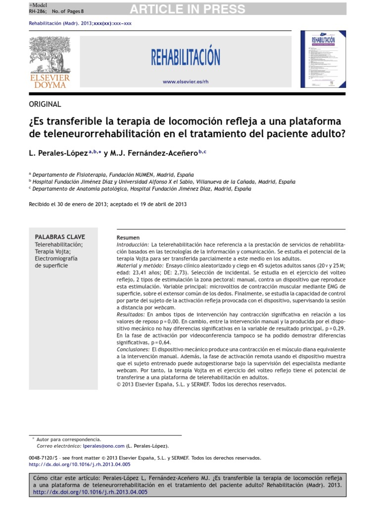 Es Transferible La Terapia de Locomocion Reflejaa Una Plataforma de ...