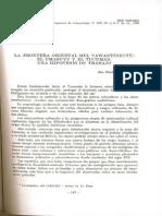 Lorandi 1980. La Frontera Oriental Del Tayantinsuyu