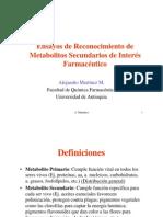 Ensayos de Reconocimiento de Metabolitos Secundarios