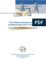 The California Reading Initiative and Special Education in California
