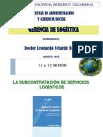 Sesion 11 y 12 Gerencia Logística - Maestria Unfv - Prof. Dr. l.velarde d.