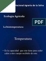 1. La Biotemperatura