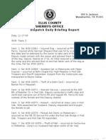 Ellis County Sheriff's Incidents, Nov. 17, 2009