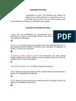Funciones de Word