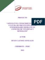 Proyecto Hugo - Vitaminas y Minerales