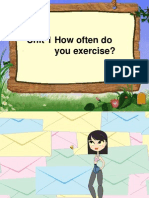 Unit 1 How Often Do You Exercise